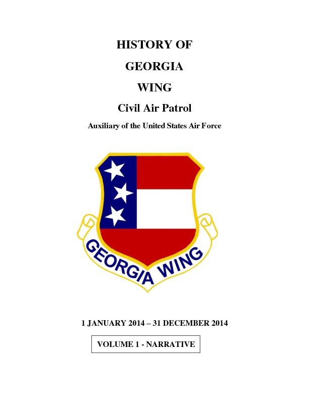 2014 Georgia Wing History