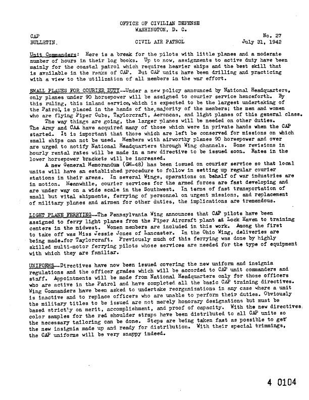 CAP News Bulletin No. 27, 31 July 1942.pdf