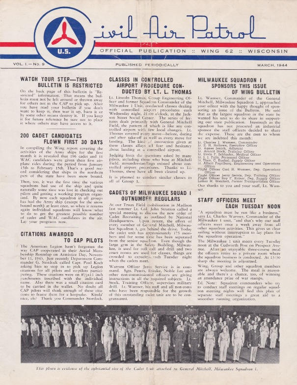 Official Publication Wing 62 Wisconsin Vol. 1.-No. 9 March, 1944.pdf
