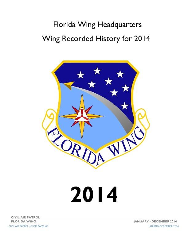 2014 Florida Wing History