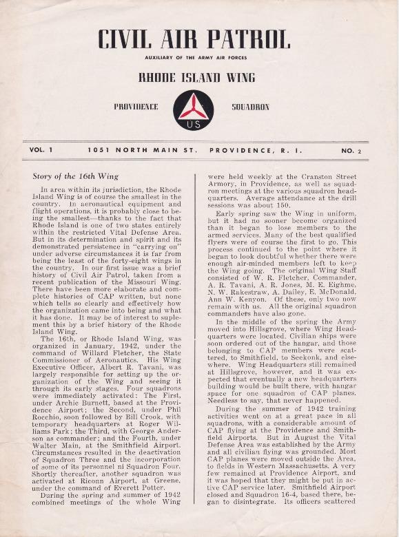Civil Air Patrol Rhode Island Wing Providence Squadron Vol. 1, No. 2 .pdf