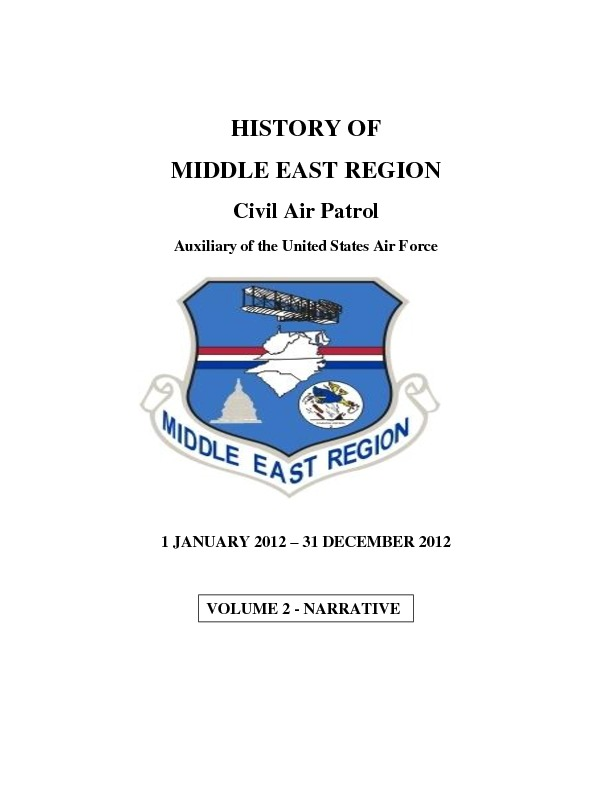 2012 Middle East Region Annual History