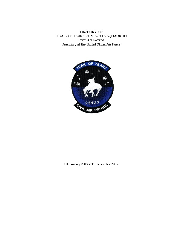 NCR-MO-127 - Trail of Tears Composite Squadron - 2017 History