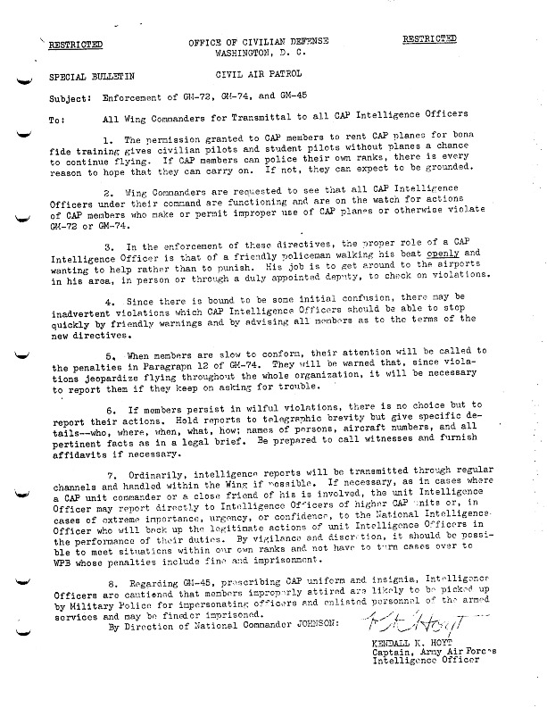 WWII Office of Civilian Defense Civil Air Patrol Special Bulletin Concerning GM-72, GM-74, and GM-45.pdf
