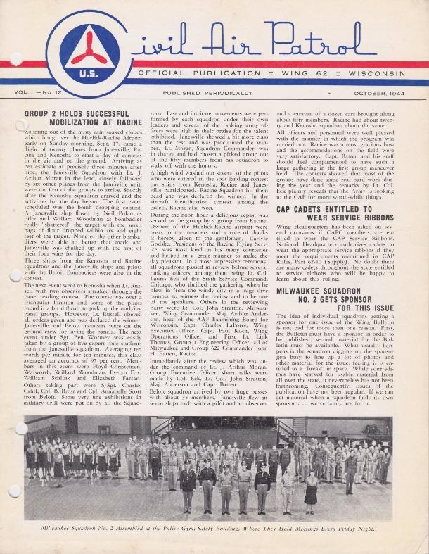 Official Publication Wing 62 Wisconsin Vol. 1.-No. 12 October, 1944.pdf