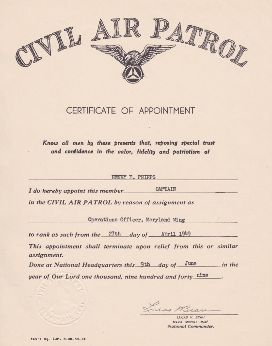 Phipps-9 June 1949-Certificate of Appointment.pdf