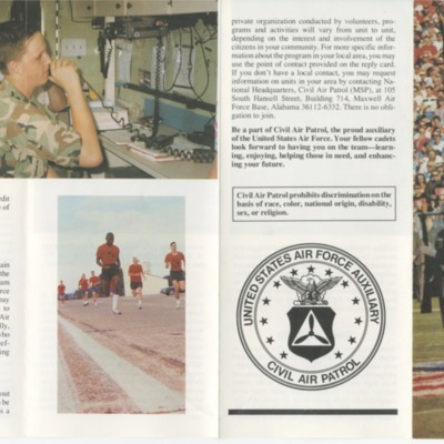 Civil Air Patrol Cadet Program Brochure - 1993