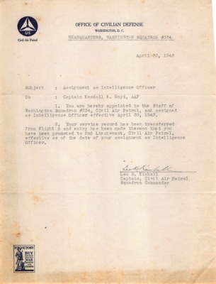 Personnel File--Memorandum [Assignment as Intelligence Officer]--30APR1943.pdf