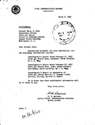 Civil Aeronautics Board Investigator's Reports - Coastal Patrol Bases No. 7, 8, 21 - 27 February 1943.pdf
