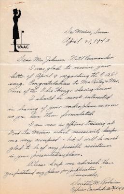 Dorothy M. Robinson to Earle L. Johnson - 17 April 1943.pdf