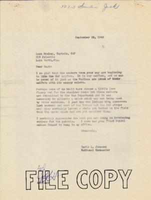 Zack Mosley to Earle Johnson - Uniforms - 17 Sept 1942.pdf