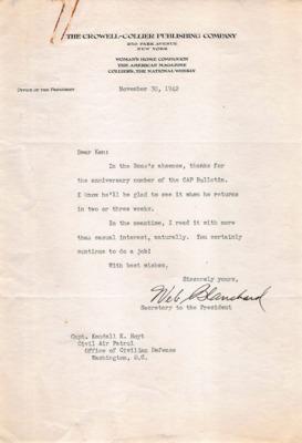 CAP Correspondence [Received]--Beck, Thomas H.--30NOV1942.pdf