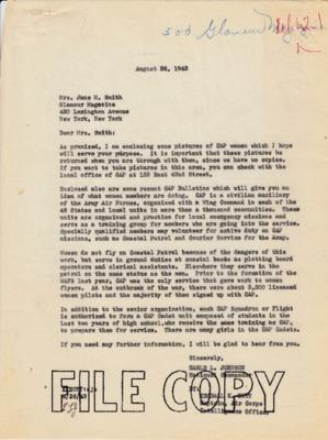Earle Johnson to Jane Smith - Glamour Magazine - 26 August 1943.pdf