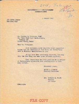 Earle L. Johnson to Dorothy M. Robinson - 2 August 1943.pdf
