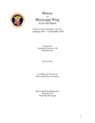 2014 Mississippi Wing History
