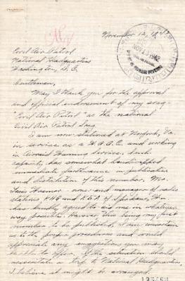 Dorothy M. Robinson to Earle L. Johnson - 12 November 1942.pdf