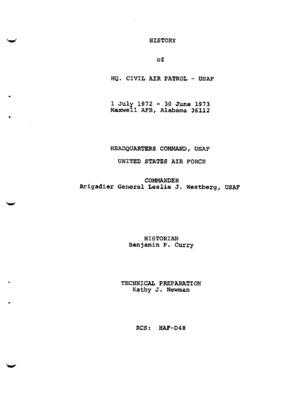 History of HQ. Civil Air Patrol - USAF, FY 1973.pdf