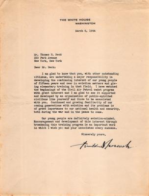 CAP Correspondence [Received (Beck, Thomas H.)]--Roosevelt, Franklin D.--08MAR1944.pdf