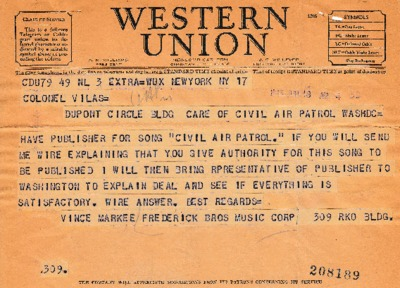 Vince M. Frederick to Jack Vilas - 18 June 1943.pdf