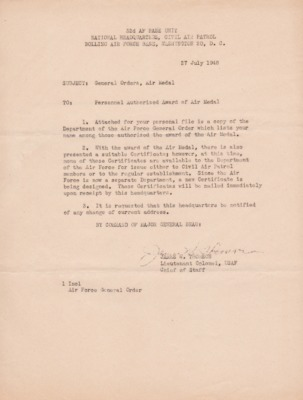 Phipps-Letter from J.W. Thomson, 27 April 1948-General Orders, Air Medal.pdf