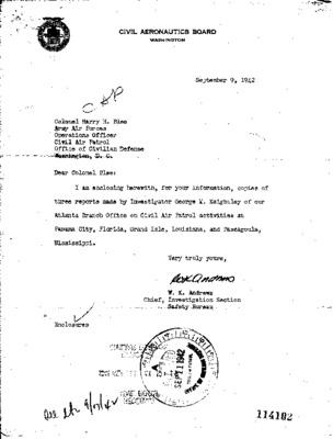 Civil Aeronautics Board Investigator's Reports - Coastal Patrol Bases No. 9, 11, 14 - 1 September 1942.pdf