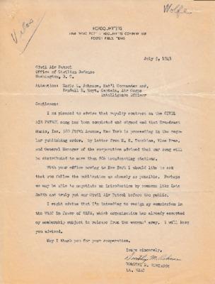 Dorothy M. Robinson to Earle L. Johnson - 5 July 1943.pdf
