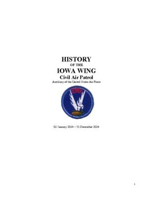 2014 Iowa Wing History