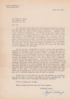 Phipps-Letter from H. Sharp, 16 April 1948-Air Medal.pdf