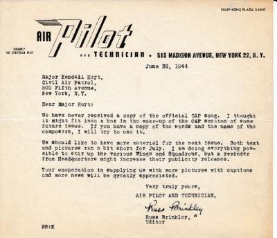 Russ Brinkley to Kendall K. Hoyt - 26 June 1944.pdf