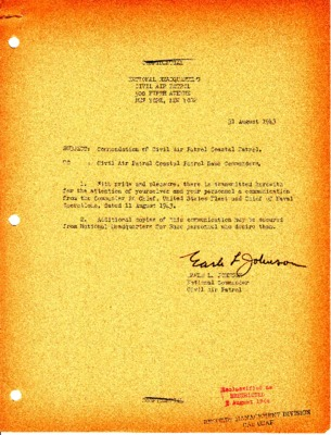 Ernest J. King to George C. Marshall - CAP Coastal Patrol Commendation - 11 August 1943.pdf