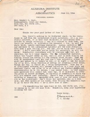 CAP Correspondence [Received]--Mooney, Clarence R.--12JUN1944.pdf