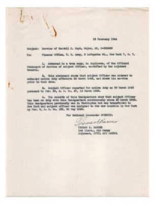 Personnel File--Memorandum [Service of Kendall K. Hoyt]--12FEB1944.pdf