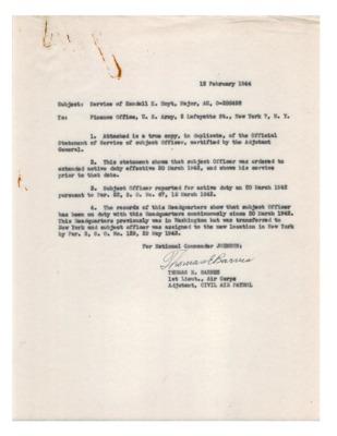 Personnel File--Memorandum [Service of Kendall K. Hoyt]--12FEB1944.pdf