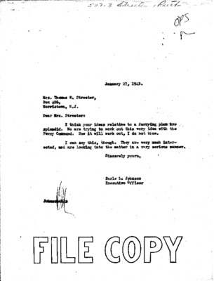 Ruth Cheney Streeter to Earle Johnson - Ferrying duty - 23 January 1942.pdf