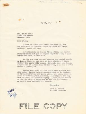 Earle Johnson to Arelene Davis - Women on coastal patrol - 29 May 1942.pdf
