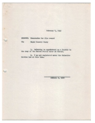 Personnel File--Memorandum for file record--07FEB1942.pdf