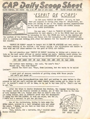 CAP Daily Scoop Sheet-Vol. 2 No. 2 Mon 17 Aug 1959 Ohio Wing Encampment.pdf