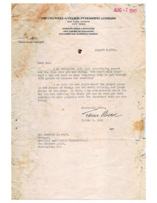 CAP Correspondence Received (Kendall King Hoyt Papers)