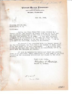 Miller V. Bishop to CAP - Offer to Serve - 29 June 1942.pdf