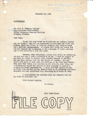 Jean H. DuBuque to Gill Robb Wilson - Youth program - 10 November 1941.pdf