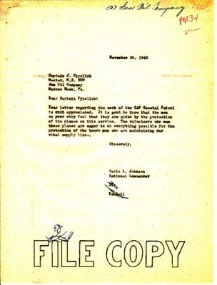 J. Pypelink to Earle Johnson - Tanker Thank You - 13 November 1942.pdf