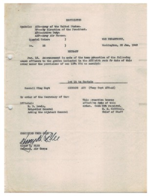 Personnel File--Special Orders No. 25 [Promotion]--25JAN1943.pdf