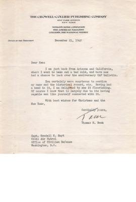 CAP Correspondence [Received]--Beck, Thomas H.--21DEC1942.pdf