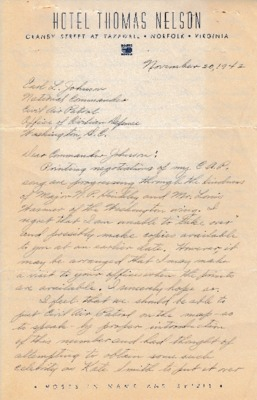 Dorothy M. Robinson to Earle L. Johnson - 20 November 1942.pdf