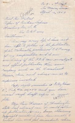 Dorothy M. Robinson to Earle L. Johnson - 12 April 1943.pdf