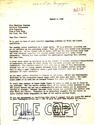 Earle Johnson to Caroline Iverson - Life Magazine - 31 July 1942.pdf