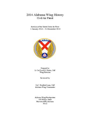 2014 Alabama Wing History