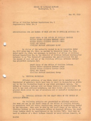 WWII Office of Civilian Defense Regulations No. 2 Supplementary Order No. 2 Amendments 1 and 2.pdf