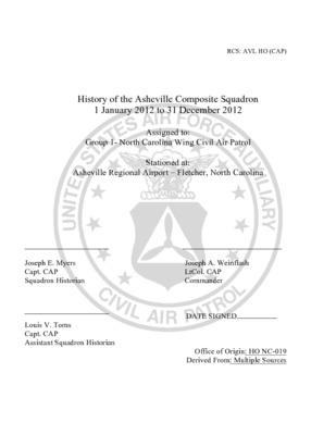 Asheville Composite Squadron History 2012.pdf