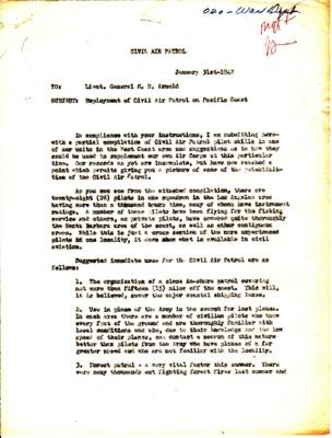John Curry to Henry H. Arnold - Pacific Coastal Patrol - 31 January 1942.pdf